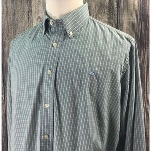 Southern Marsh Plaid Button Front Large Shirt